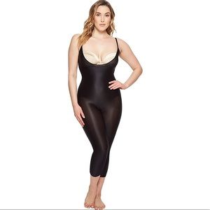 NWT SPANX Open Bust Black Catsuit Shapewear -Large
